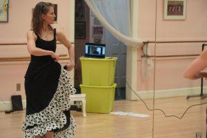 Cindy Bragg Rehearsing